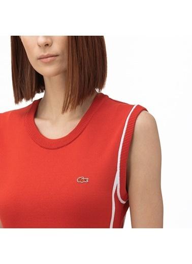 Lacoste Kadın V Yaka Elbise EF0060.60R Kırmızı